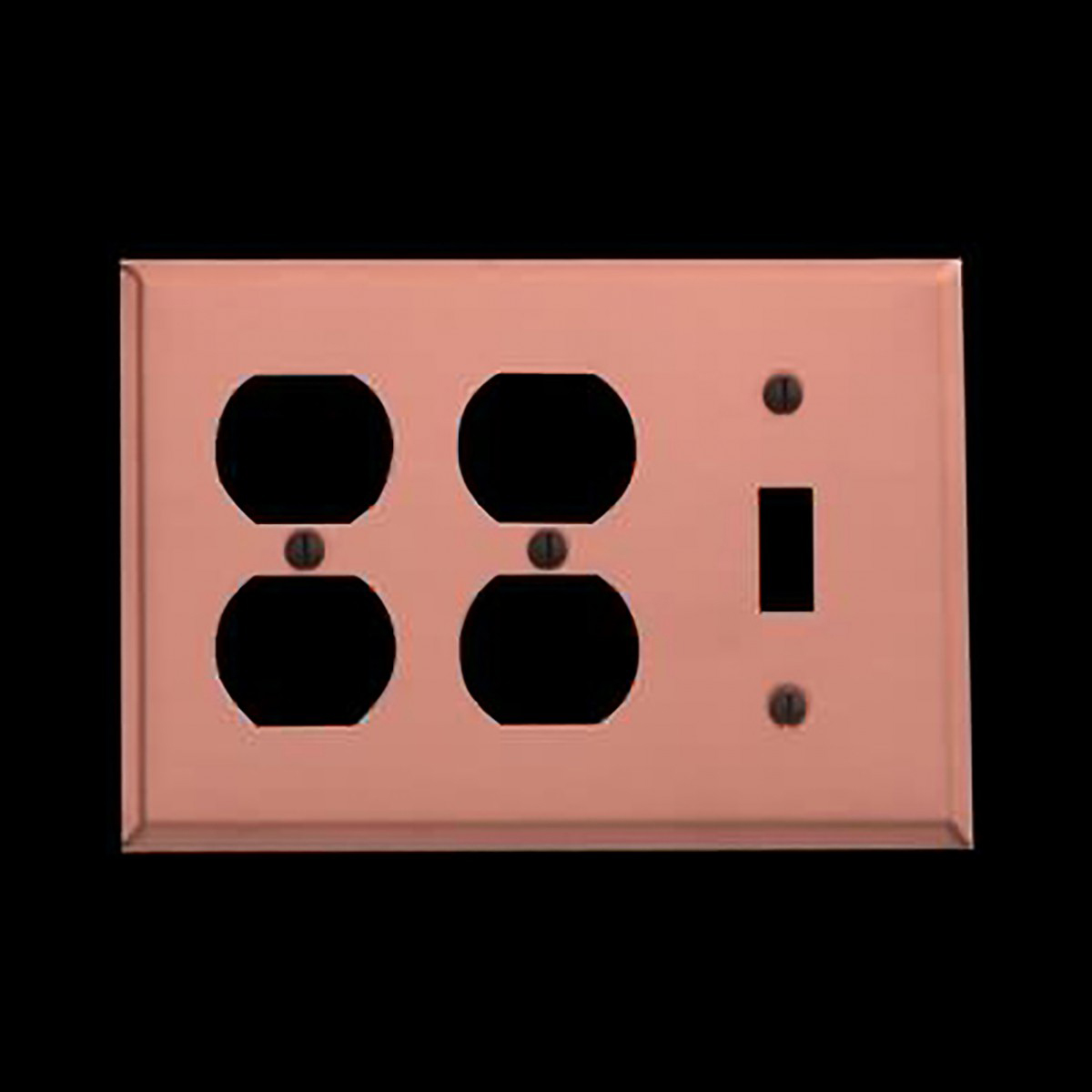 Switchplate Brushed Solid Copper Toggle 2 Outlet Switch Plate Wall Plates Switch Plates