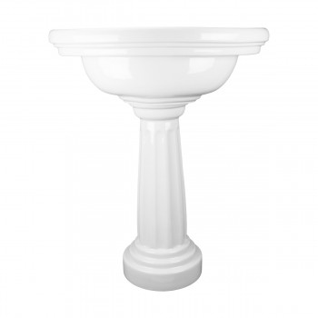 Renovators Supply White Philadelphia Bathroom Freestanding Pedestal Sink Deluxe Freestanding pedestal sink KOHLER K226880 Alternative porcelain americana bathroom commercial ceramic