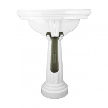 <PRE>Renovator's Supply White Philadelphia Bathroom Freestanding Pedestal Sink</PRE>zoom5