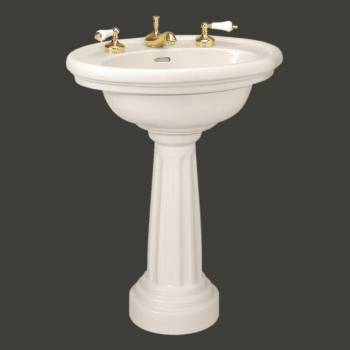pedestal sink - Philadelphia Sink Bone 12 in. widespread Takes an 8 in. widespread by the Renovator's Supply