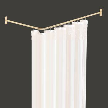 Shower Curtain Rod Bright Solid Brass 2 Sided Shower Rod Shower Curtain Rod Shower Curtain Rods
