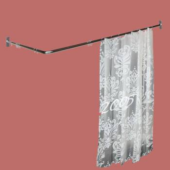 <PRE>Two-sided Shower Curtain Rod Chrome Plated Brass 7/8inch Dia. </PRE>zoom2
