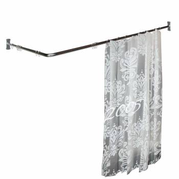 Twosided Shower Curtain Rod Chrome Plated Brass 78 Dia