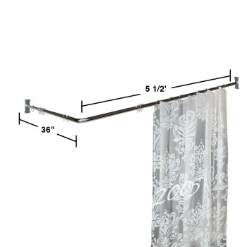 spec-<PRE>Two-sided Shower Curtain Rod Chrome Plated Brass 7/8&quot; Dia. </PRE>