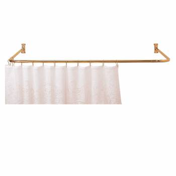 Shower Curtain Rod Bright Solid Brass 3 Sided Shower Rod Shower Curtain Rod Shower Curtain Rods
