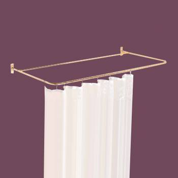 <PRE>Shower Curtain Rod Bright Solid Brass 4 Sided </PRE>zoom2