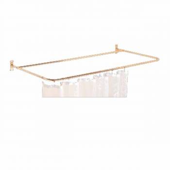 <PRE>Shower Curtain Rod Bright Solid Brass 4 Sided </PRE>zoom1