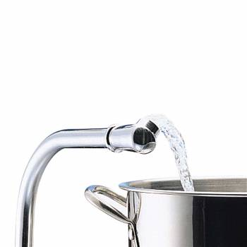 Chrome Hi-Rise Kitchen Faucet