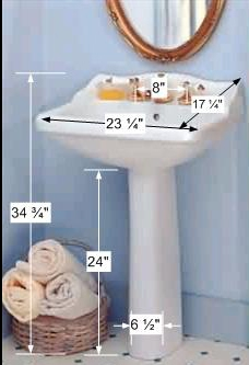 Pedestal Sinks - Roped Pedestal Sink 8 inch widespread faucet by the Renovator's Supply