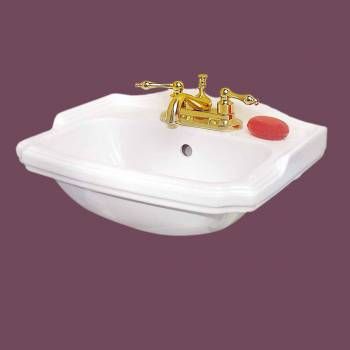 <PRE>Renovator's Supply Small Wall Mount Bathroom Sink White with Overflow 19inch </PRE>zoom2