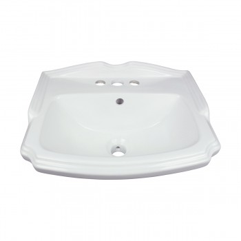 <PRE>Renovator's Supply Small Wall Mount Bathroom Sink White with Overflow 19inch </PRE>zoom3