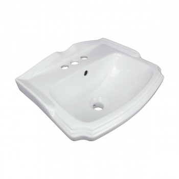 <PRE>Renovator's Supply Small Wall Mount Bathroom Sink White with Overflow 19inch </PRE>zoom5