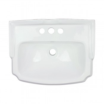 <PRE>Renovator's Supply Small Wall Mount Bathroom Sink White with Overflow 19inch </PRE>zoom8
