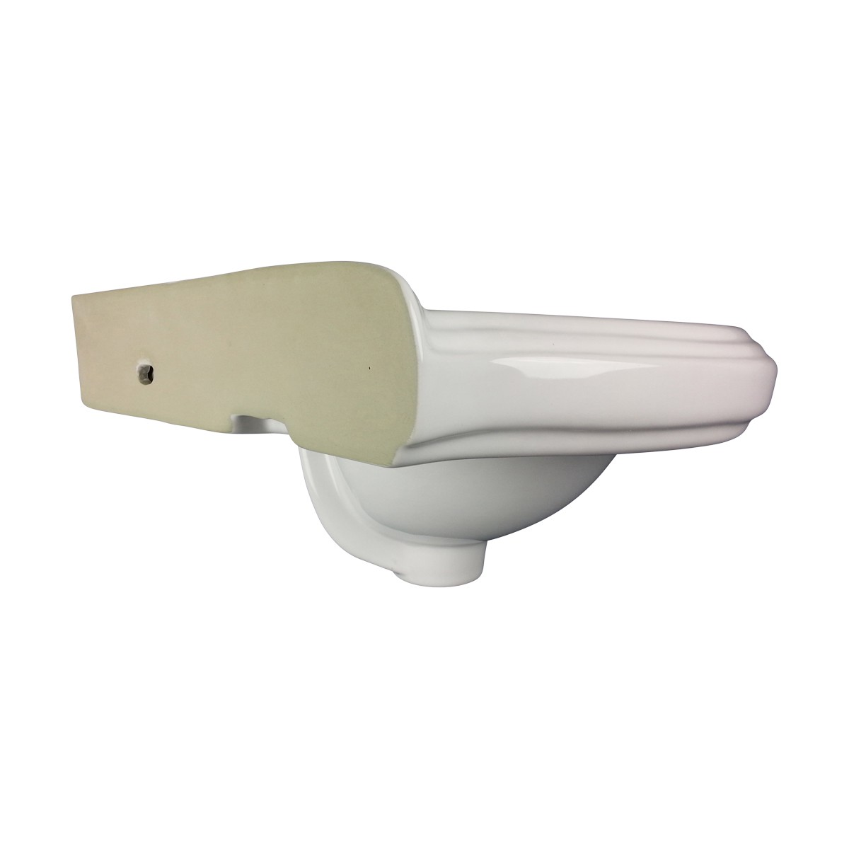 U003cPREu003eWhite Bathroom Vessel Sink Wall Mount Vanity China Basin Portsmouth  With Bracketu003c ...