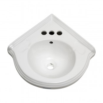 <PRE>Renovators Supply Corner Bathroom Wall Mount Sink White With 4inch Centerset</PRE>zoom3