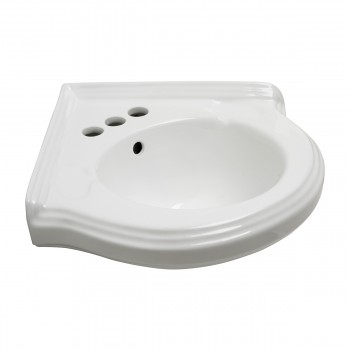 <PRE>Renovators Supply Corner Bathroom Wall Mount Sink White With 4inch Centerset</PRE>zoom4