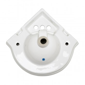 <PRE>Renovators Supply Corner Bathroom Wall Mount Sink White With 4inch Centerset</PRE>zoom5