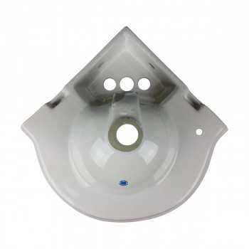 <PRE>Renovators Supply Corner Bathroom Wall Mount Sink White With 4inch Centerset</PRE>zoom7