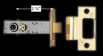 "spec-<PRE>Door Latches Bright Solid Brass 2.75"" Backset </PRE>"