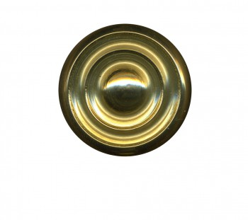 Cabinet Knob Bright Solid Brass Spooled 1 Dia Cabinet Hardware Cabinet Knobs Cabinet Knob