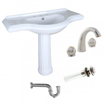 Pedestal Sink Vintage Design with 8