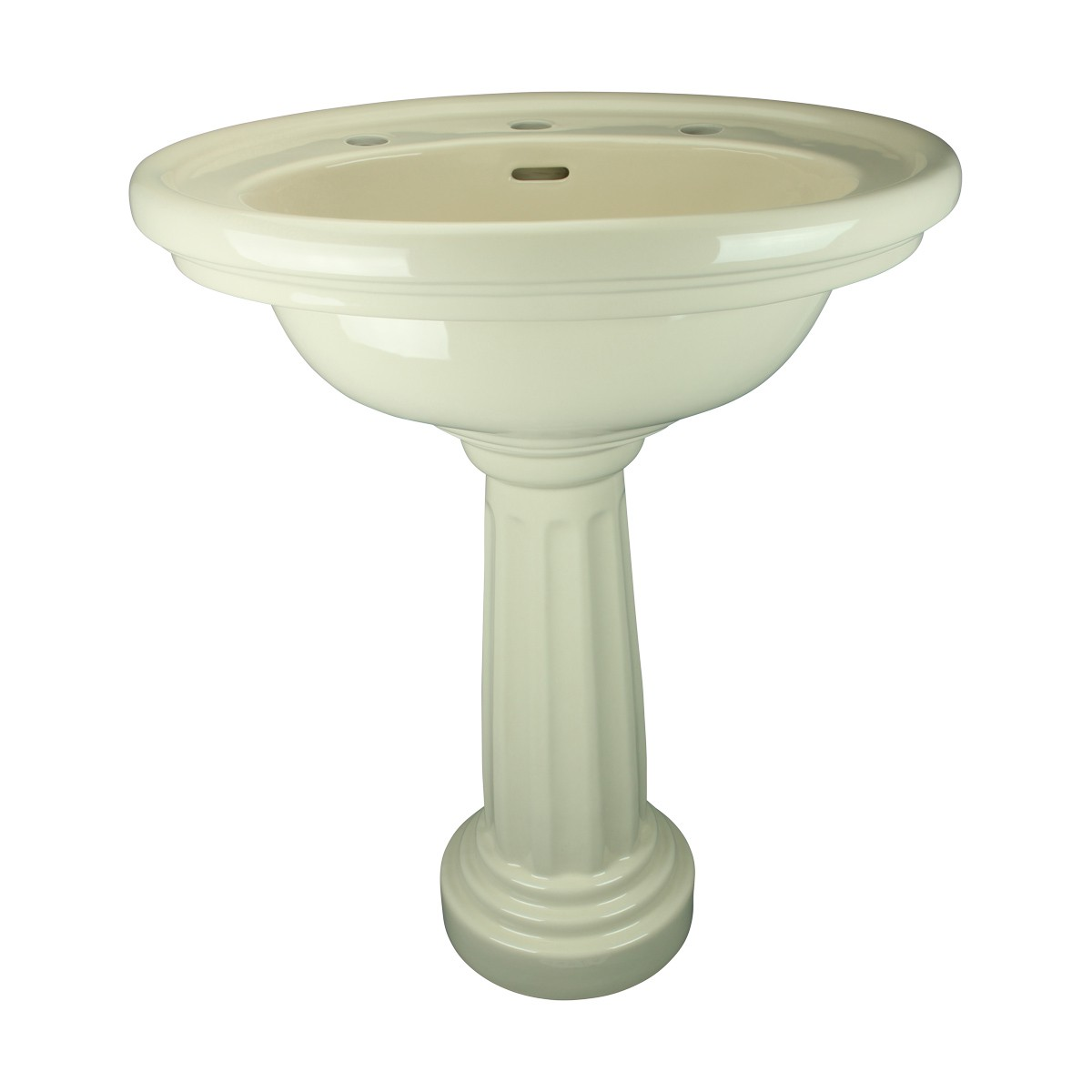 Biscuit Pedestal Sink Philadelphia Oval with 8 Faucet, Drain and PTrap Deluxe Colonial Bone Pedestal Sink Bathroom Sinks Bathroom Pedestal Sink