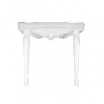 <PRE>Console Sink White Porcelain with Hardwood Leg, Faucet, Drain & P Trap</PRE>zoom7