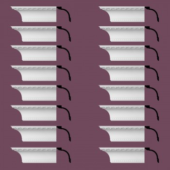 <PRE>Renovator's Supply Ornate Cornice White Urethane Ashlyn Design 16 Pieces Totaling 1504inch Length</PRE>zoom2