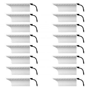 Renovators Supply Ornate Cornice White Urethane Ashlyn Design 16 Pieces Totaling 1504 Length White PrePrimed Urethane Crown Cornice Molding Cornice Crown Home Depot Ekena Millwork Molding Wall Ceiling Corner Cornice Crown Cove Molding