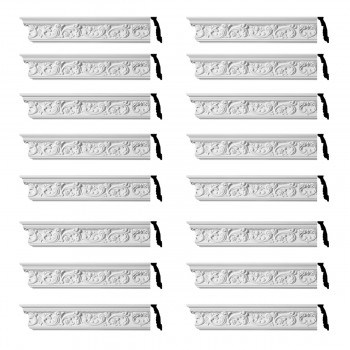 <PRE>Renovator's Supply Ornate Cornice White Urethane Cannes Design 16 Pieces Totaling 1504inch Length</PRE>zoom1