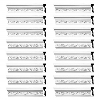 <PRE>Renovator's Supply Crown Molding White Urethane Savanah Design 16 Pieces Totaling 1504inch Length</PRE>zoom1