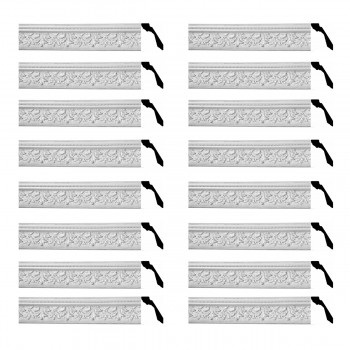 <PRE>Renovator's Supply Cornice White Urethane Leaf Ornate Design 16 Pieces Totaling 1184inch Length</PRE>zoom1