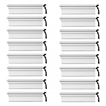 Renovators Supply Crown Molding Urethane Somerset Simple Design 16 Pieces Totaling 1536 Length White PrePrimed Urethane Crown Cornice Molding Cornice Crown Home Depot Ekena Millwork Molding Wall Ceiling Corner Cornice Crown Cove Molding