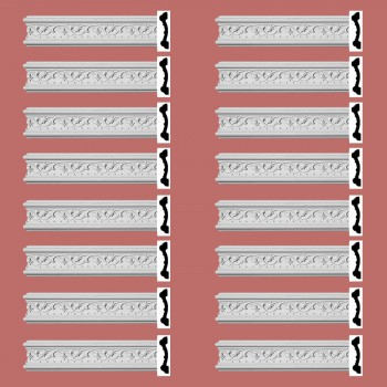 Renovators Supply Crown Molding White Urethane Beacon Hill Ornate  16 Pieces Totaling 1536 Length White PrePrimed Urethane Crown Cornice Molding Cornice Crown Home Depot Ekena Millwork Molding Wall Ceiling Corner Cornice Crown Cove Molding