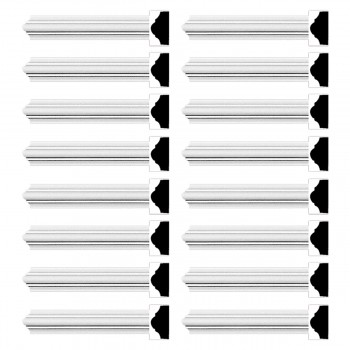 <PRE>Renovator's Supply Cornice White Urethane Simple Design 16 Pieces Totaling 1520inch Length</PRE>zoom1