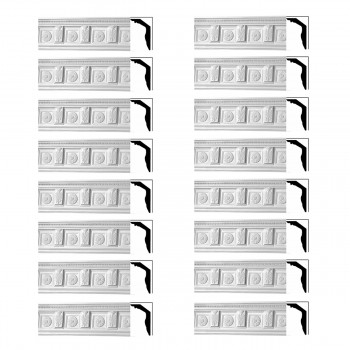 <PRE>Renovator's Supply Cornice White Urethane Tyrese Ornate Design 16 Pieces Totaling 1196inch Length</PRE>zoom1