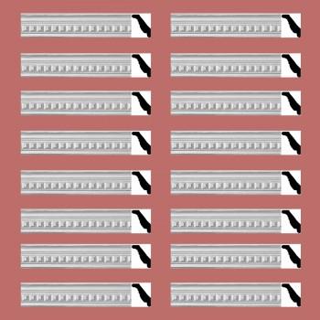 Renovators Supply Ornate Cornice White Urethane Amelia Ornate  16 Pieces Totaling 1516 Length White PrePrimed Urethane Crown Cornice Molding Cornice Crown Home Depot Ekena Millwork Molding Wall Ceiling Corner Cornice Crown Cove Molding