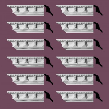 Renovators Supply Ornate Cornice White Urethane Edinburgh Design 12 Pieces Totaling 1140 Length White PrePrimed Urethane Crown Cornice Molding Cornice Crown Home Depot Ekena Millwork Molding Wall Ceiling Corner Cornice Crown Cove Molding
