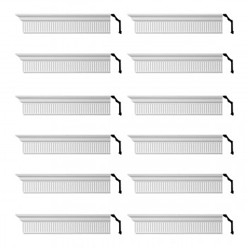 <PRE>Renovator's Supply Ornate Cornice White Urethane Sunderland Design 12 Pieces Totaling 1152inch Length</PRE>zoom1