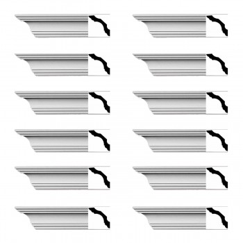<PRE>Renovator's Supply Simple Cornice White Urethane Northbridge Design 12 Pieces Totaling 1152inch Length</PRE>zoom1