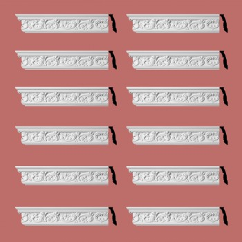 <PRE>Renovator's Supply Ornate Cornice White Urethane Cannes Design 12 Pieces Totaling 1128inch Length</PRE>zoom2