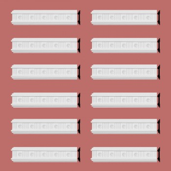 Renovators Supply Crown Molding White Urethane Westchester Ornate  12 Pieces Totaling 1152 Length White PrePrimed Urethane Crown Cornice Molding Cornice Crown Home Depot Ekena Millwork Molding Wall Ceiling Corner Cornice Crown Cove Molding