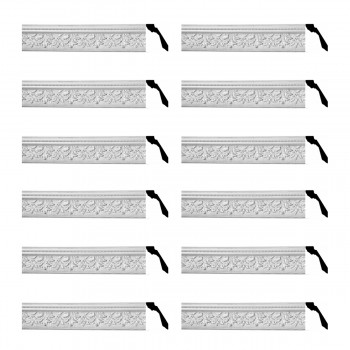 Renovators Supply Cornice White Urethane Leaf Ornate Design 12 Pieces Totaling 888 Length White PrePrimed Urethane Crown Cornice Molding Cornice Crown Home Depot Ekena Millwork Molding Wall Ceiling Corner Cornice Crown Cove Molding
