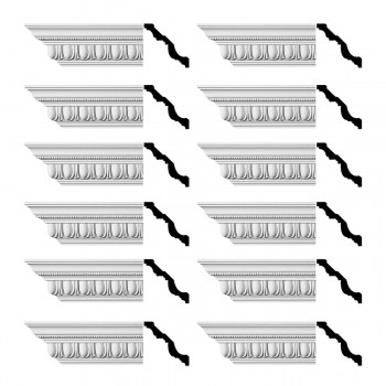 <PRE>Renovator's Supply  Ornate Cornice White Urethane Design 12 Pieces Totaling 1152inch Length</PRE>zoom1