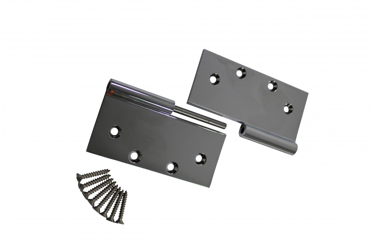 5 Square Door Hinge Lift Off Right Chrome Brass Door Hinges Door Hinge Solid Brass Hinge