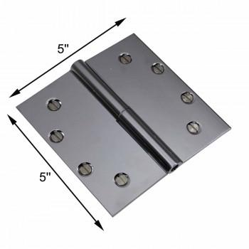 "spec-<PRE>5"" Square Door Hinge Lift Off Right Chrome Brass </PRE>"
