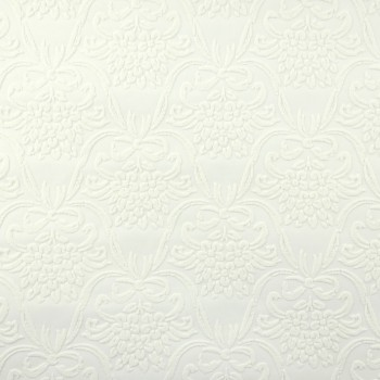 Wallpapers White Embossed Textured Vinyl Kensington