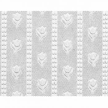Wallpaper White Embossed Textured Vinyl Tulip 56 sq. ft.  98078grid