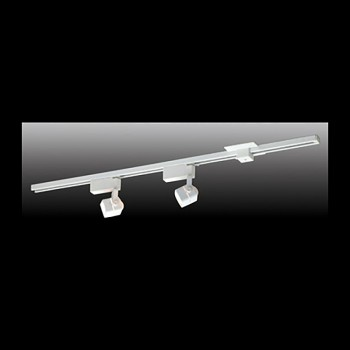 <PRE>Track Lighting White 4 Foot Track w/2 Light Set </PRE>zoom3
