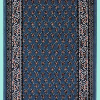 <PRE>Runner Area Rug 2' 3inch Wide, Sold by Foot Blue Wool </PRE>zoom2